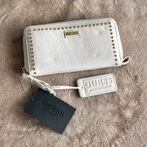NWT - Guess Genuine Leather Long Wallet, Off White